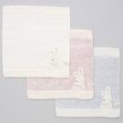 KONTEX~日本製 今治產 刺繡兔兔小方巾(3種顏色)