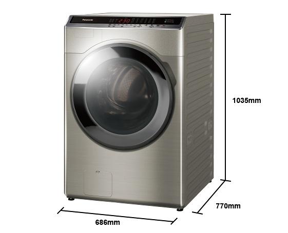 《Panasonic 國際牌》16公斤 變頻洗脫烘滾筒洗衣機 NA-V160HDH-W (冰鑽白)/S(炫亮銀)