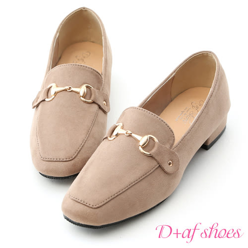 質感馬銜釦絨質樂福鞋