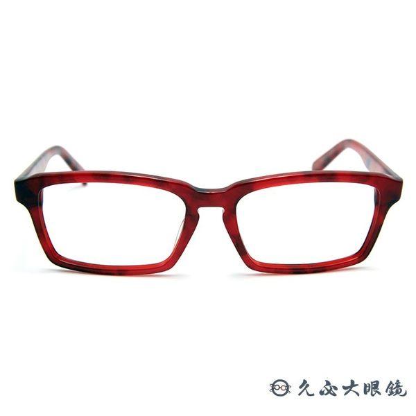 角矢甚治郎 日本手工眼鏡 本能寺 總大將光秀 C-SR 透紅 久必大眼鏡