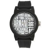 A/X Armani Exchange 潮流品味黑白撞色橡膠帶男腕錶47mm(AX1443)271003