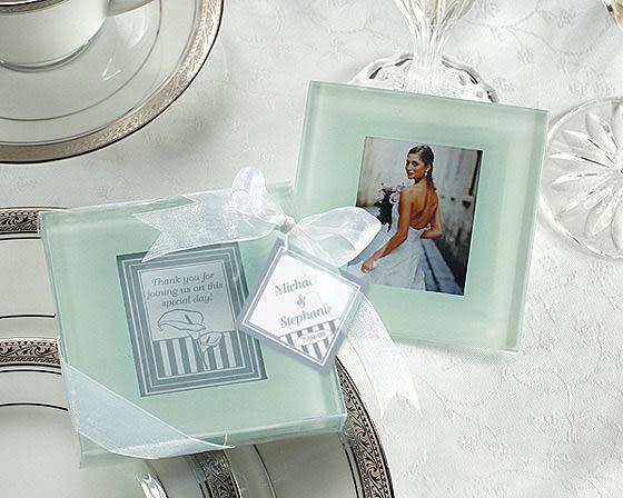 相框玻璃杯墊 (兩入裝) 婚禮小物 送客小禮 婚禮佈置/50組