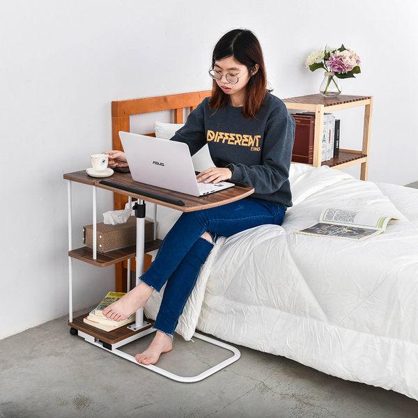 床邊桌/電腦桌/書桌  皮諾丘升降式工作桌【胡桃木】dayneeds