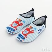 中大尺碼 兒童室內拖鞋運動游泳鞋居家防滑地板鞋襪條紋螃蟹親子鞋 js26469『紅袖伊人』