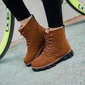 秋冬季新款雪地靴女馬丁短靴短筒平底棉鞋學生女鞋女靴子棉靴 9號潮人館