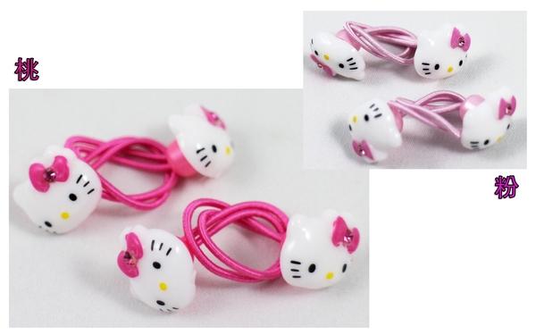 【卡漫城】 Hello Kitty 鬆緊帶 髮束 雙大臉 二入組 二款選一 ㊣版 髮飾繩 韓版 飾品 凱蒂貓 髮圈