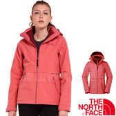 The North Face TNF 2U8X-UBG粉橘 女防水兩件式保暖外套 3合1透氣夾克/防風保暖大衣/機能風衣