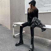 黑色破洞牛仔褲女夏季高腰顯瘦小腳褲子2021年新款ins潮春秋緊身【小橘子】
