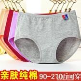5條裝加肥加大碼胖mm200斤中年媽媽女士內褲純棉中腰全棉三角褲頭『小淇嚴選』