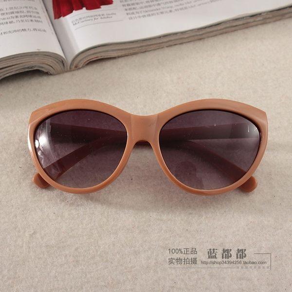 [超豐國際]艾剪標咖啡色戶外女士防紫外線太陽眼鏡 08597(1入)