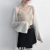吊帶背心女夏季新款白色內搭針織小心機吊帶打底衫短款上衣外穿潮 「米蘭街頭」