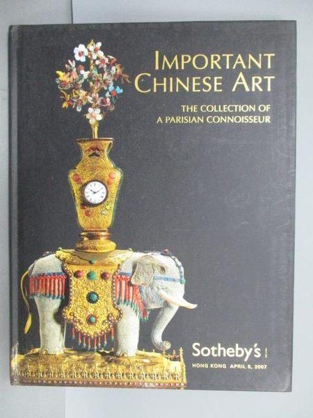 【書寶二手書T1/收藏_PDP】Sotheby s_Important Chinese Art_2007/4/8