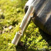 口哨戶外金屬爆音求生哨不銹鋼竹節口哨野外救生裝備哨子 時光之旅