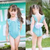 兒童泳衣女孩連體可愛公主條紋3夏季速干比基尼泳裝 sxx2486 【大尺碼女王】
