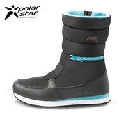 PolarStar 女 防潑水 保暖雪鞋│雪靴『迷霧黑』 P16654 (內厚鋪毛/ 防滑鞋底) 雪地靴.非UGG靴.雪地必備