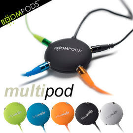 【風雅小舖】【BOOMPODS multipod 耳機3.5mm音源一轉四分音線】