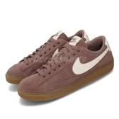 【五折特賣】Nike 休閒鞋 Wmns Blazer Low SD 咖啡 白 麂皮鞋面 膠底 女鞋 運動鞋【PUMP306】 AV9373-201