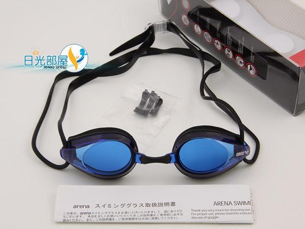 *日光部屋* arena (公司貨)/AGG-270-BLU 競泳/訓練/小鏡面泳鏡