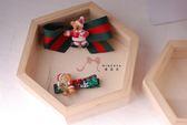 蜜諾菈Minerva‧聖誕節慶紅綠條紋(熊熊款)髮夾兩件組‧‧編號00548