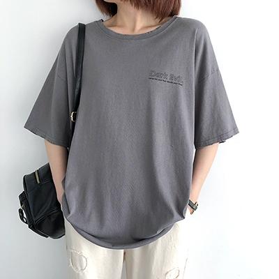 純棉T恤女 字母印花T恤 圓領短袖上衣/11色-夢想家-0330