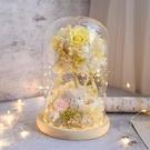 夢幻不凋花繡球樹,12*21帶燈玻璃罩,附送禮紙盒