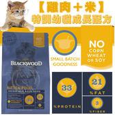 【zoo寵物商城】BLACKWOOD 柏萊富《雞肉米》特調幼貓成長配方 13.23LB/6kg