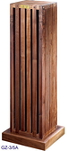 義大利精品 Homely Design 胡桃原木材質,純手工製造 GZ-3/5A 喇叭架一對(展示出清)