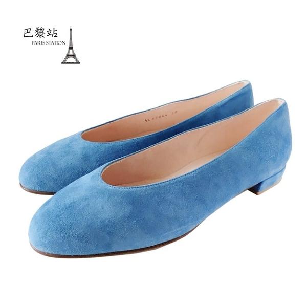 【巴黎站二手名牌專賣店】*全新現貨*Stuart Weitzman 真品*天空藍平底娃娃鞋 (37.5-39號)