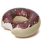 游泳圈 大型-充氣可愛甜甜圈成人水上活動坐騎浮板2色73ez10[時尚巴黎]