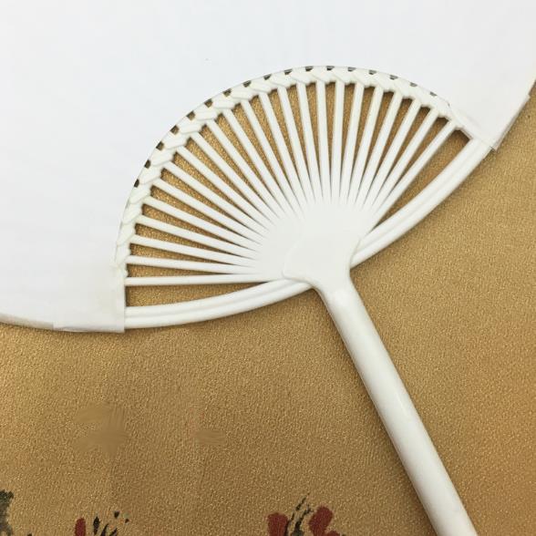 日本扇 廣告空白扇 DIY 團扇 畫畫扇 真絲扇 古典扇 彩繪扇 手工扇 空白扇【塔克】