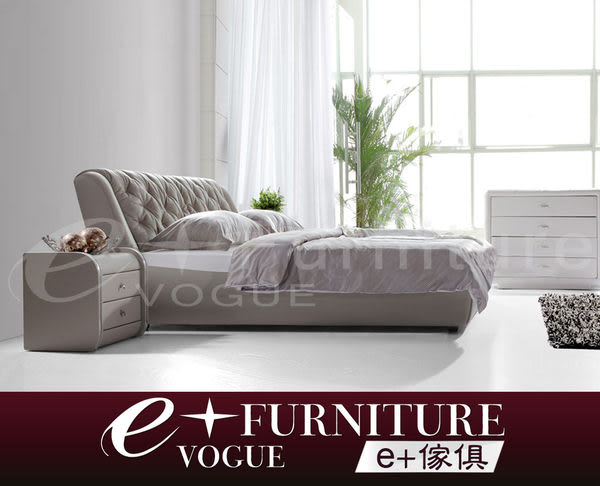 『 e+傢俱 』BB40 鄧肯 Duncan 托斯卡尼 都會輕古典拉釦床組 顏色尺寸可訂製 半牛皮6尺床架