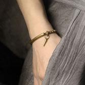 復古朋克黃銅手鍊流蘇金屬手工飾品簡約中性/設計家分店