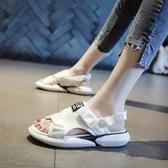 快速出貨 平底涼鞋 涼拖鞋 女外穿 夏季 復古韓版百搭ulzzang平底 沙灘鞋ins網紅 涼鞋