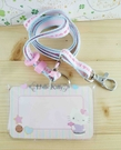 【震撼精品百貨】Hello Kitty 凱蒂貓~KITTY證件套附繩-熊圖案-粉色