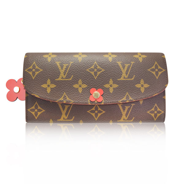 Louis Vuitton (LV) Emilie 經典花紋小花扣式長夾 M62941  國外專櫃購入《小婷子》
