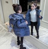 女童棉衣冬裝2019新款韓版女孩中長款外套洋氣寶寶加厚羽絨棉服潮