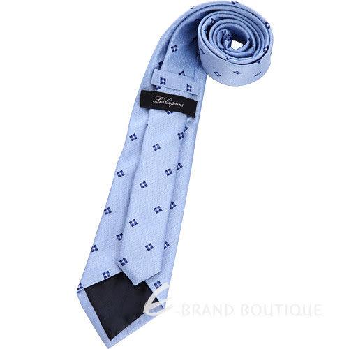 Les Copains 水藍色方格花樣圖紋領帶 1240450-27