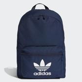 【折後$1380】adidas Originals ADICOLOR CLASSIC 經典 內夾層 藍 Logo 雙肩背包 三葉草 可手提 ED8668