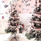 網紅直播間臥室裝飾品聖誕樹1.5/2米商場聖誕節粉色白色雪鬆植絨 WD 小時光生活館