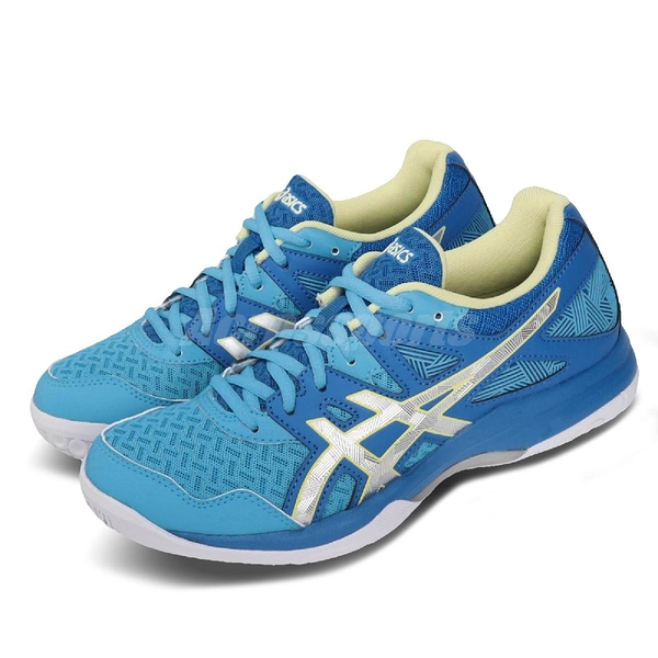 Asics 排球鞋 Gel-Task 2 藍 銀 女鞋 運動鞋 【ACS】 1072A038401