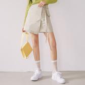 A字裙 高腰立體裝飾A字短裙RU3003-創翊韓都