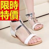 涼鞋-平底清新夏季典型風靡女休閒鞋56l13【巴黎精品】