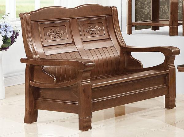 【南洋風休閒傢俱】沙發系列- 實木沙發  赫達雙人樟木板椅   (JH655-4)