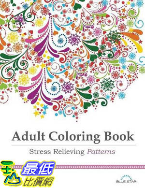[104美國直購] 2015 美國暢銷書排行榜 Adult Coloring Book: Stress Relieving Patterns