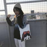 側背包原創小眾設計日系少女單肩帆布包 帆布袋中包女
