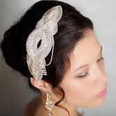 髮帶鑲鑽-歐美精緻質感魅力生日情人節禮物女頭飾73ex25[時尚巴黎]