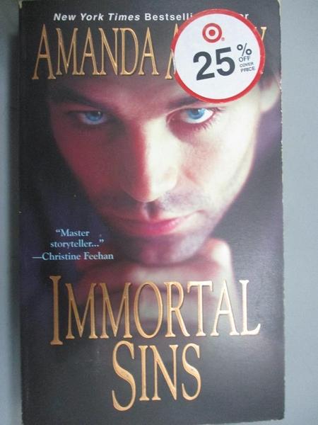 【書寶二手書T5/原文小說_BIH】Immortal Sins_Amanda Ashley, Amanda Ashley