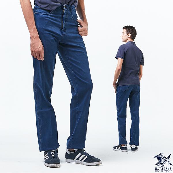 【NST Jeans】舒棉天空藍 重磅數牛仔男褲(中腰) 390(5645) outlet款 台製 紳士 男