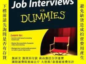 二手書博民逛書店Job罕見Interviews For Dummies, 4th EditionY410016 Joyce L