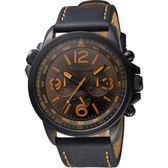 Timberland 叢林野戰時尚日曆腕錶-咖啡x黑/45mm TBL.13910JSB/12